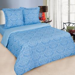 """Купить постельное белье поплин гладкокрашеный """"Византия голубая"""" {citys}"""