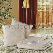 "Набор для спальни ""Верблюжья шерсть"" (одеяло + 2 подушки, 1,5 спальный, 2-х спальный, евро, семейный)"